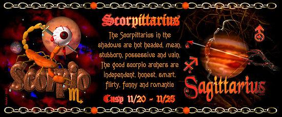 Sagittarius on the cusp of scorpio