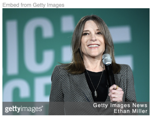 The astrology of Marianne Williamson