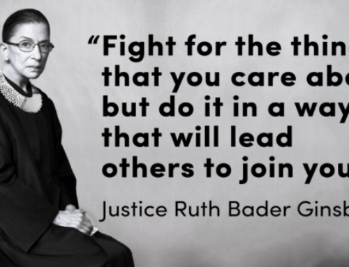 Sunday inspiration from the late Ruth Bader Ginsburg
